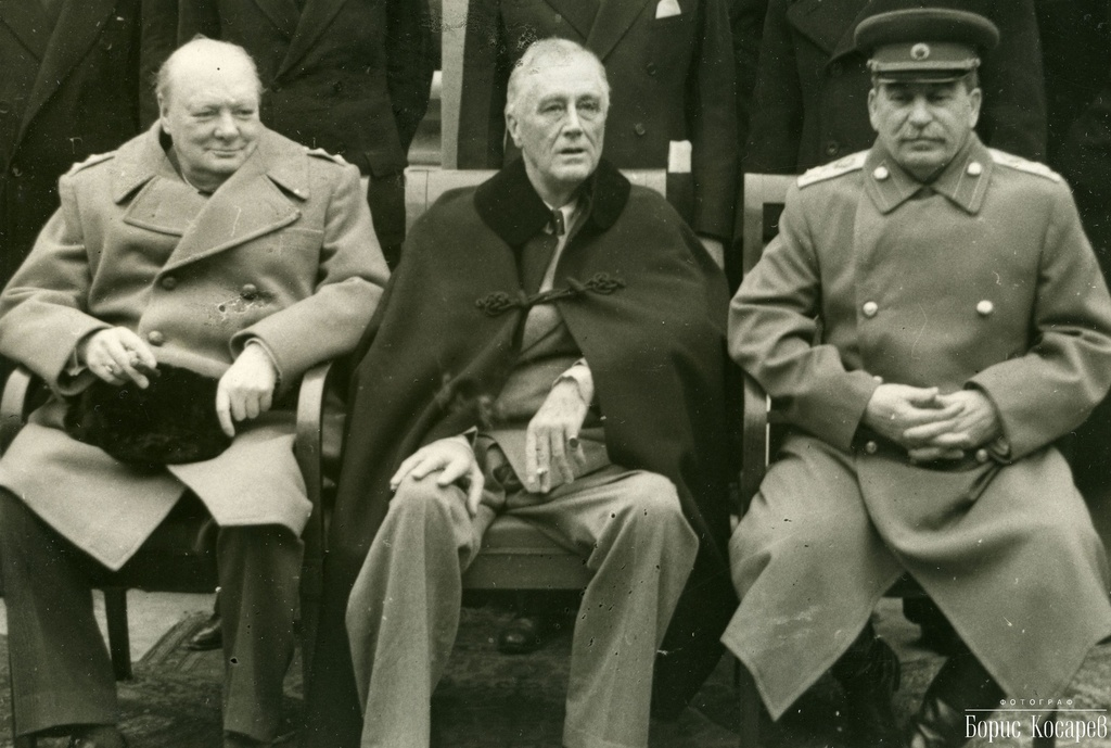 franklin delano roosevelt winston churchill and joseph stalin the big three who were the most powerf