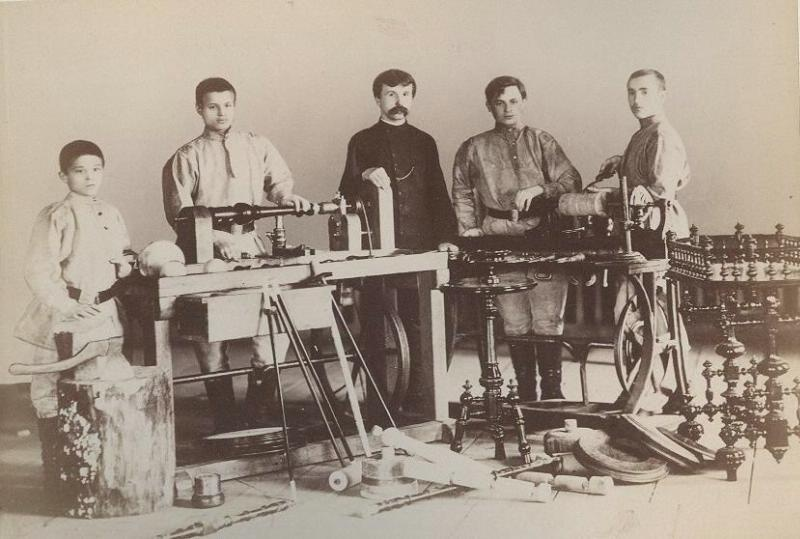 Types deleves de latelier de tourneurs, 1890-е, г. Москва